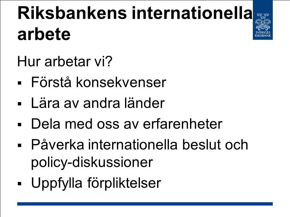 Riksbankens internationella arbete
