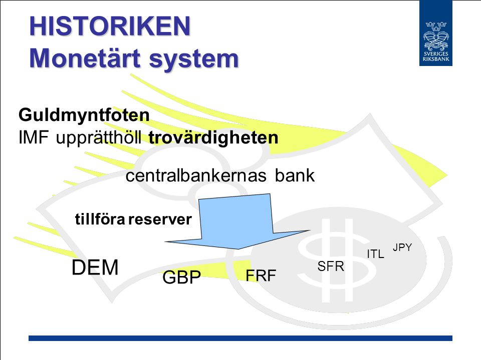 HISTORIKEN Monetärt system