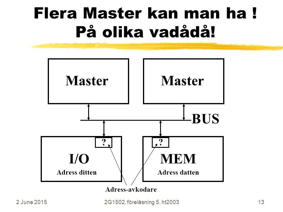 Flera Master kan man ha ! På olika vadådå!
