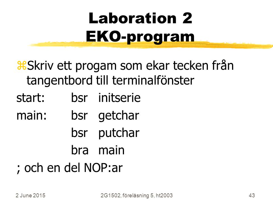 Laboration 2 EKO-program