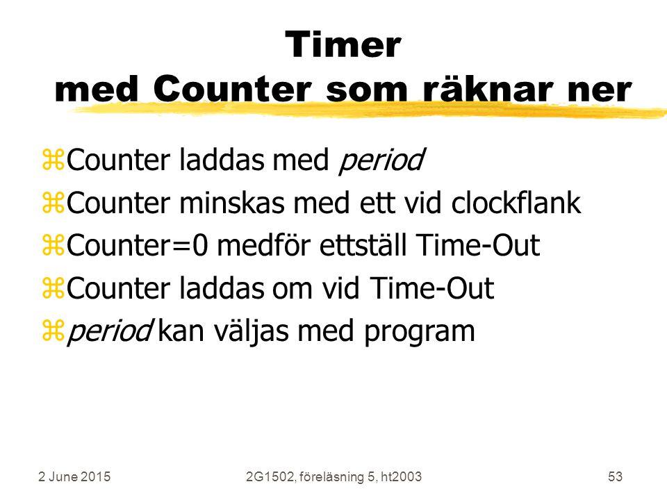 Timer med Counter som räknar ner