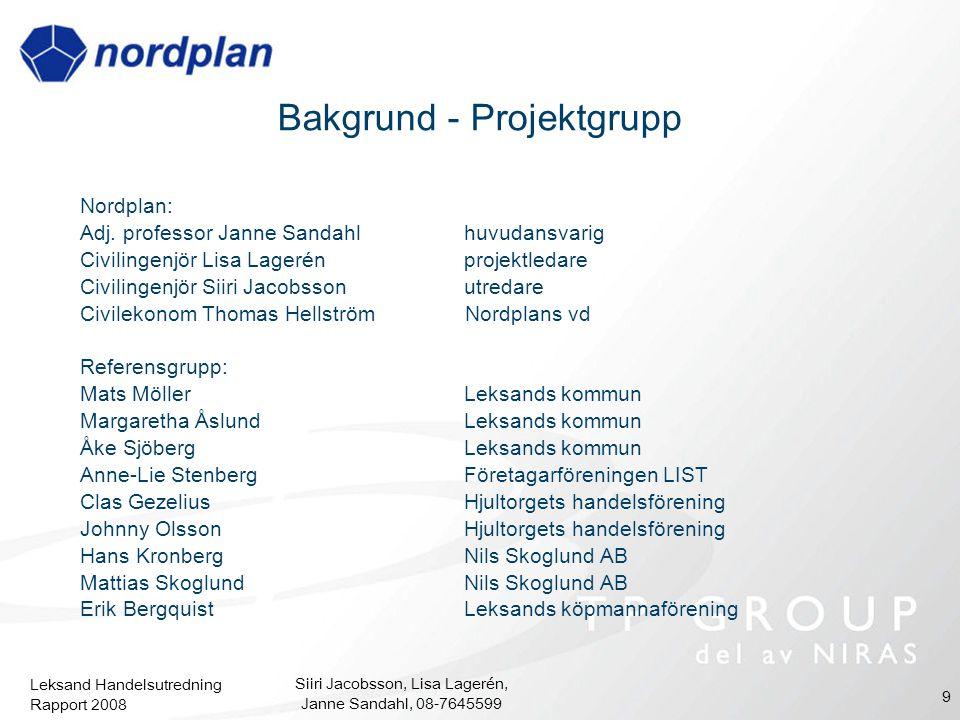 Bakgrund - Projektgrupp
