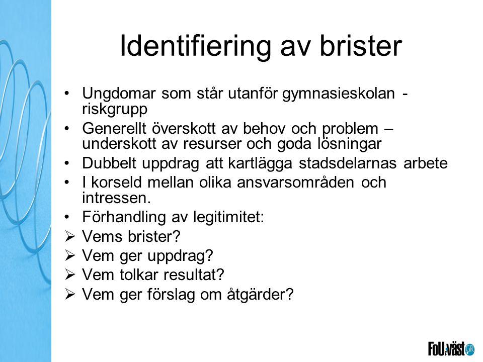 Identifiering av brister