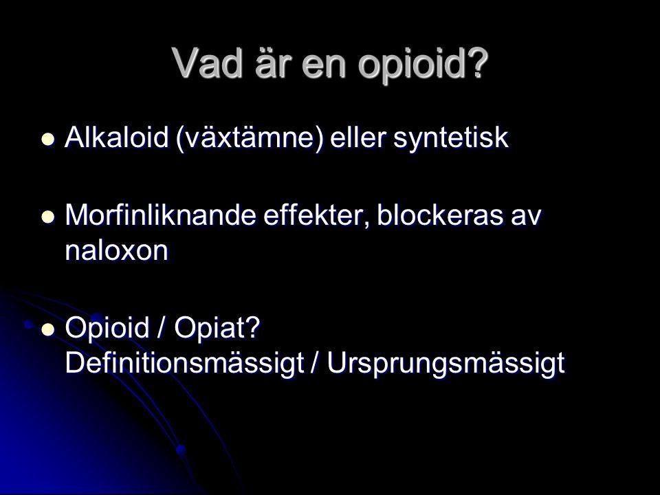 Vad är en opioid Alkaloid (växtämne) eller syntetisk