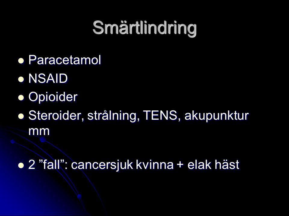 Smärtlindring Paracetamol NSAID Opioider