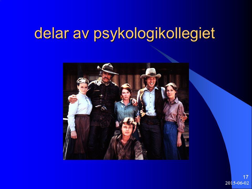 delar av psykologikollegiet