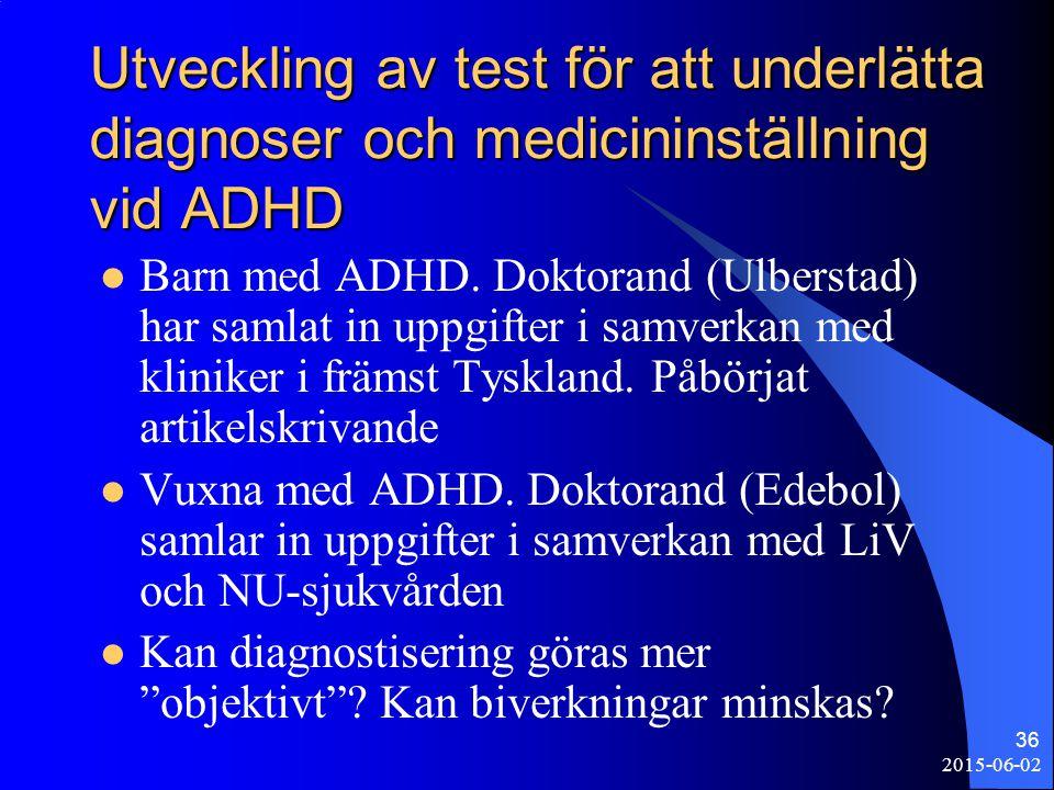 Utveckling av test för att underlätta diagnoser och medicininställning vid ADHD