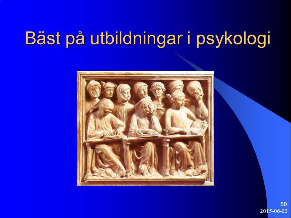 Bäst på utbildningar i psykologi