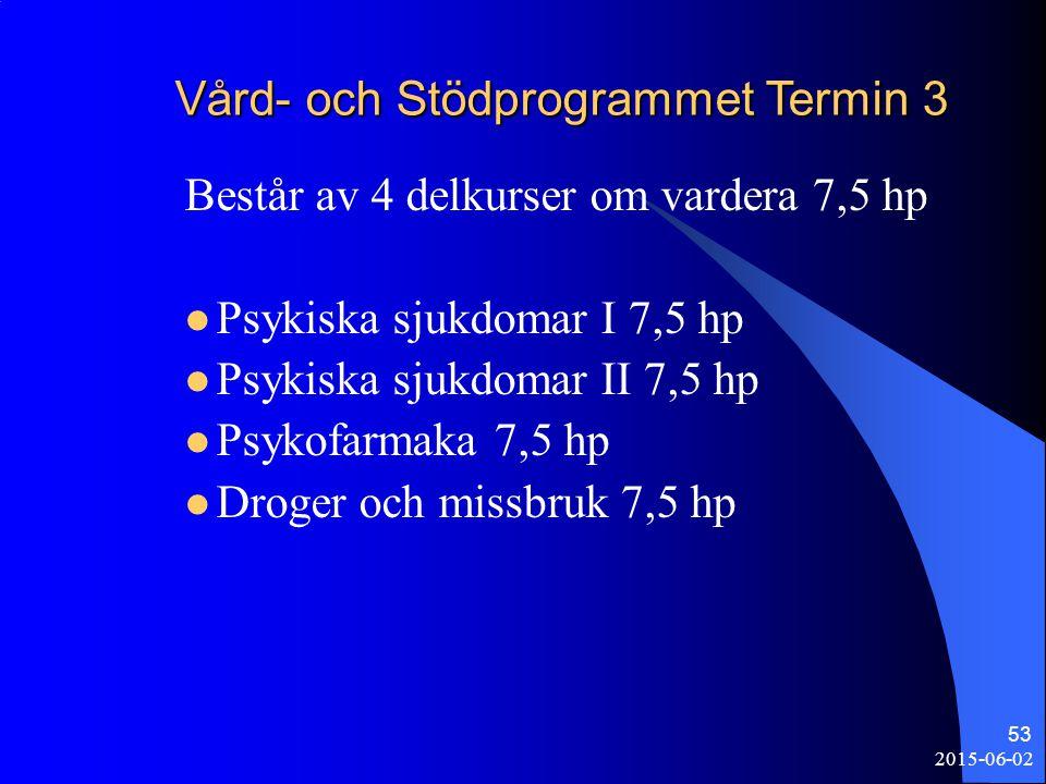 Vård- och Stödprogrammet Termin 3