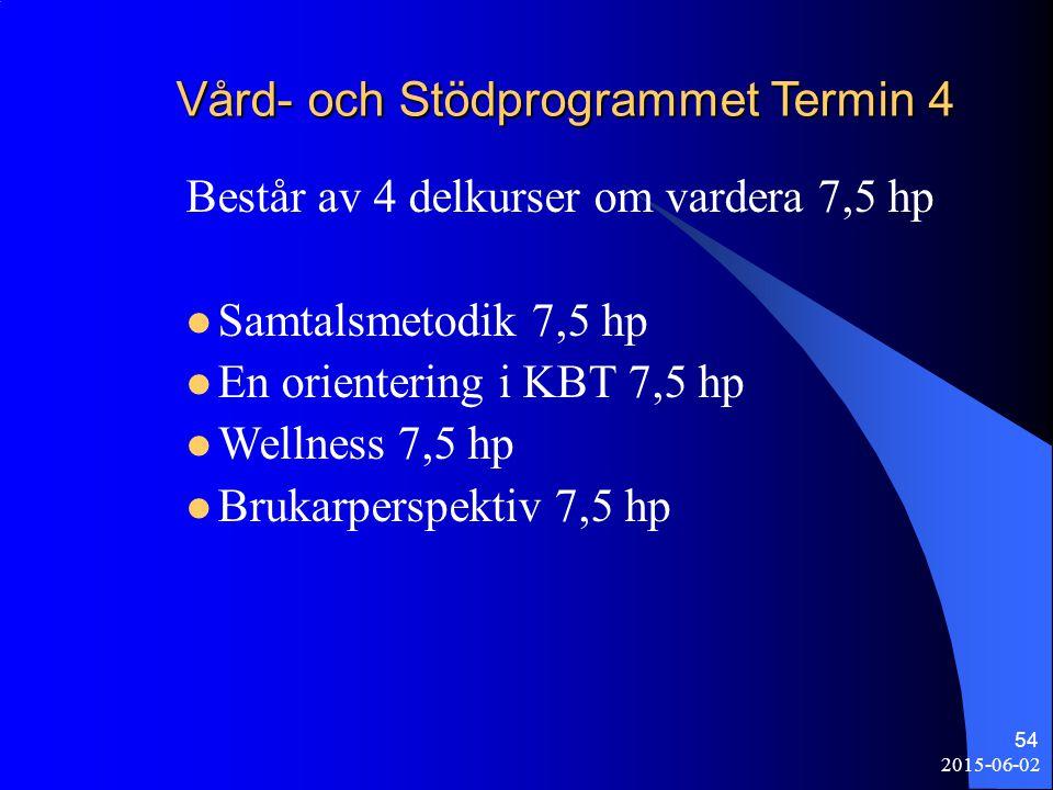 Vård- och Stödprogrammet Termin 4