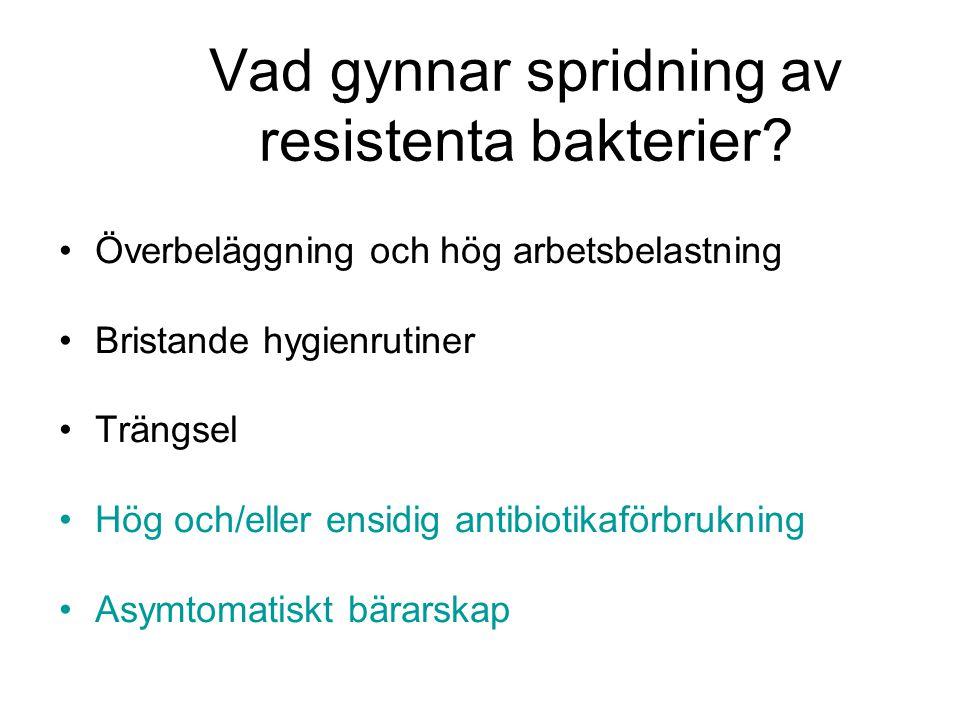 Vad gynnar spridning av resistenta bakterier
