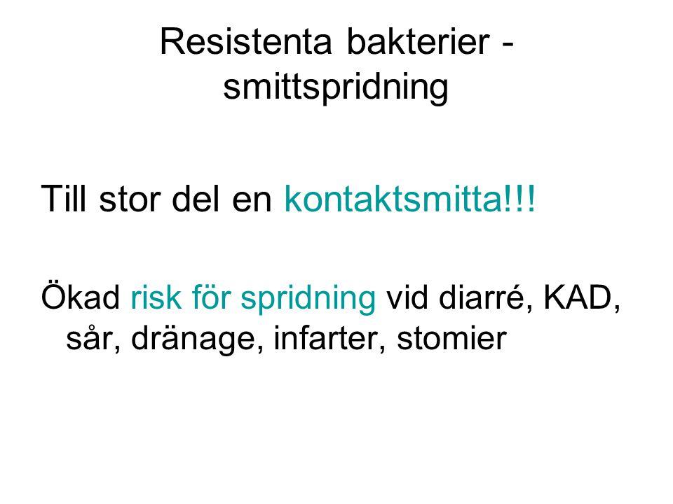 Resistenta bakterier - smittspridning