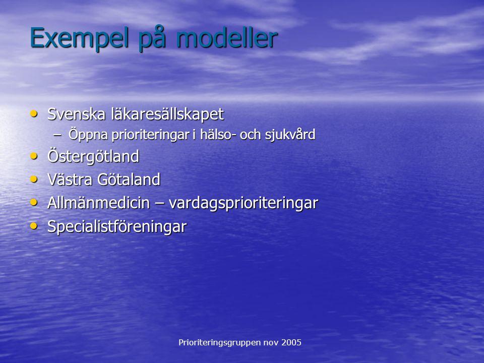 Exempel på modeller Svenska läkaresällskapet Östergötland