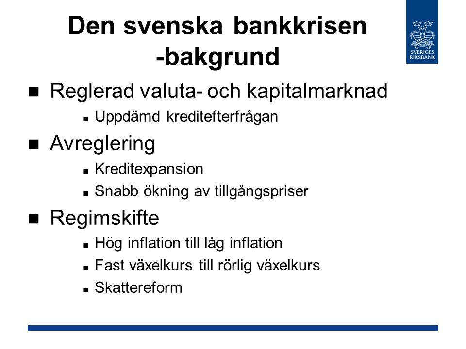 Den svenska bankkrisen -bakgrund