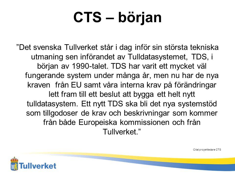 CTS – början