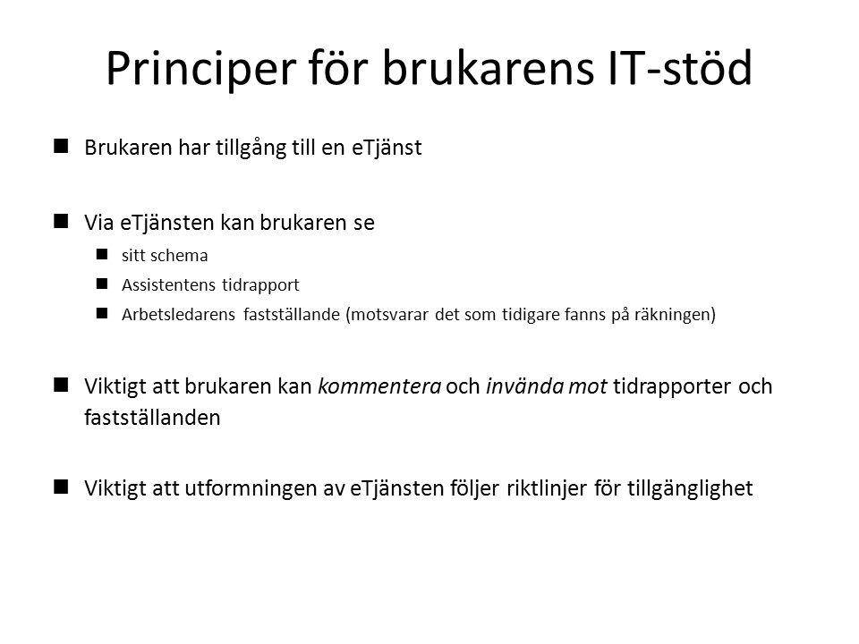 Principer för brukarens IT-stöd