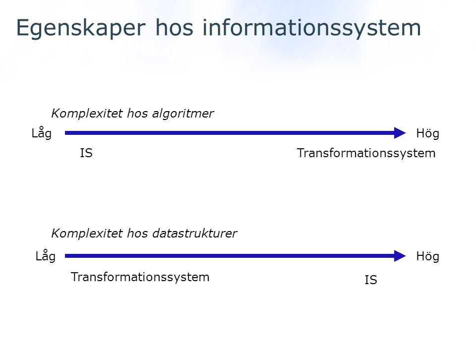 Egenskaper hos informationssystem