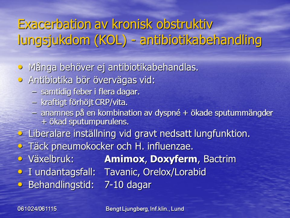 Bengt Ljungberg, Inf.klin., Lund