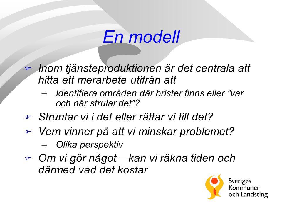 En modell Inom tjänsteproduktionen är det centrala att hitta ett merarbete utifrån att.