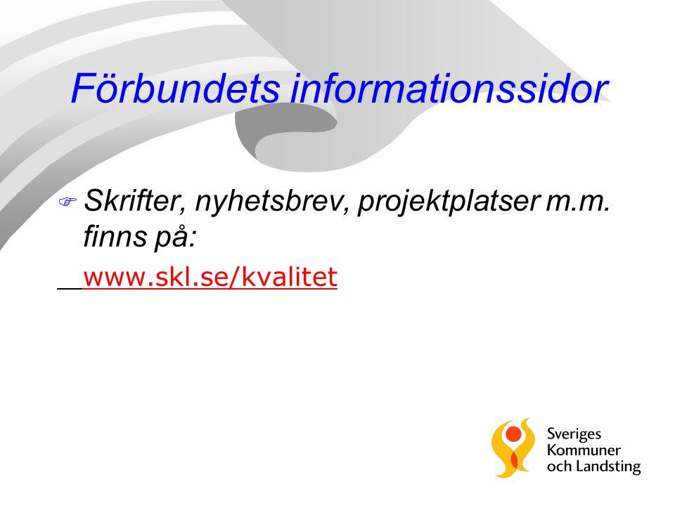 Förbundets informationssidor