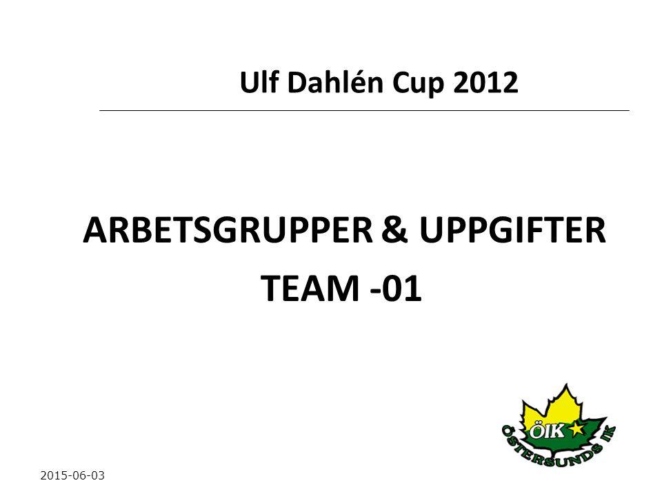 ARBETSGRUPPER & UPPGIFTER