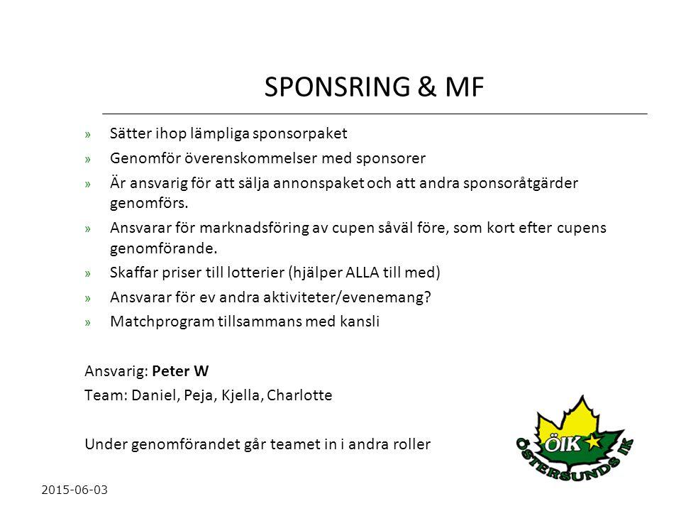 SPONSRING & MF Sätter ihop lämpliga sponsorpaket