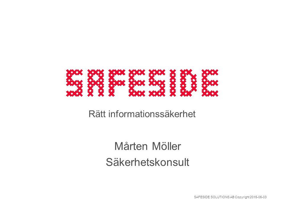 Rätt informationssäkerhet