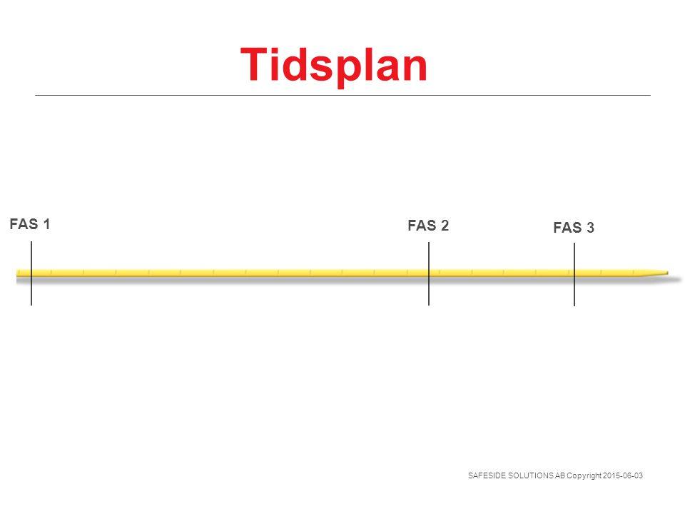 Tidsplan FAS 1 FAS 2 FAS 3