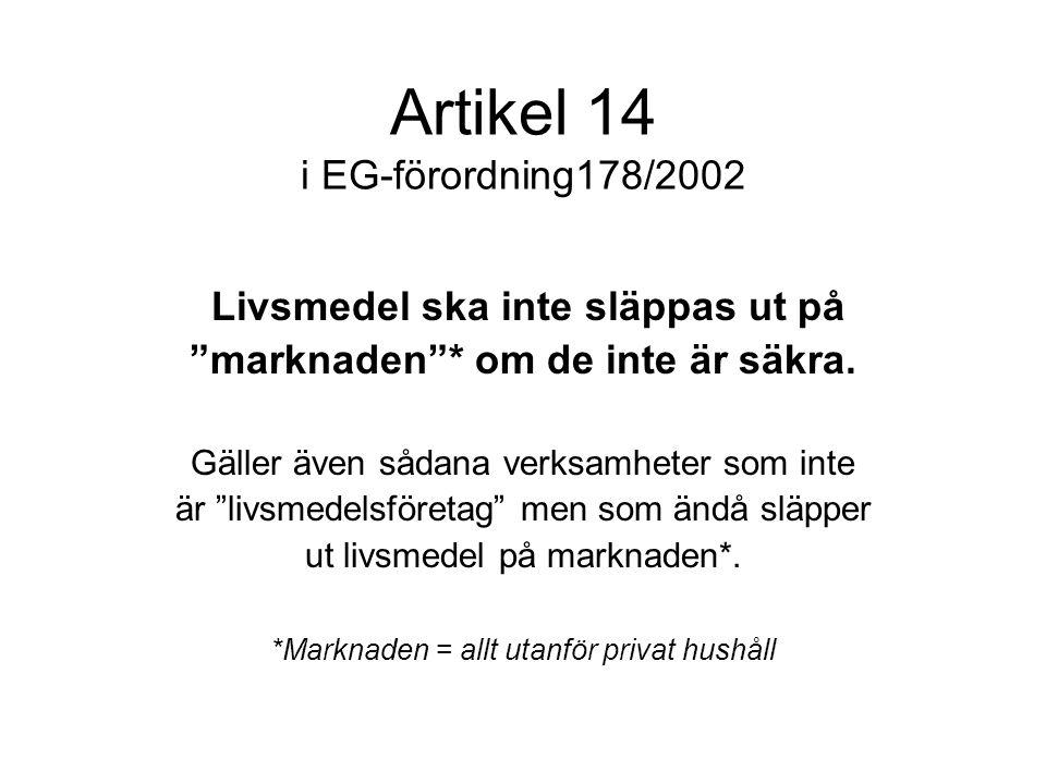 Artikel 14 i EG-förordning178/2002