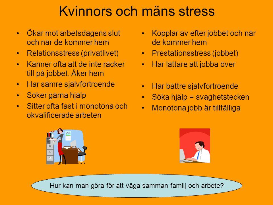 Kvinnors och mäns stress