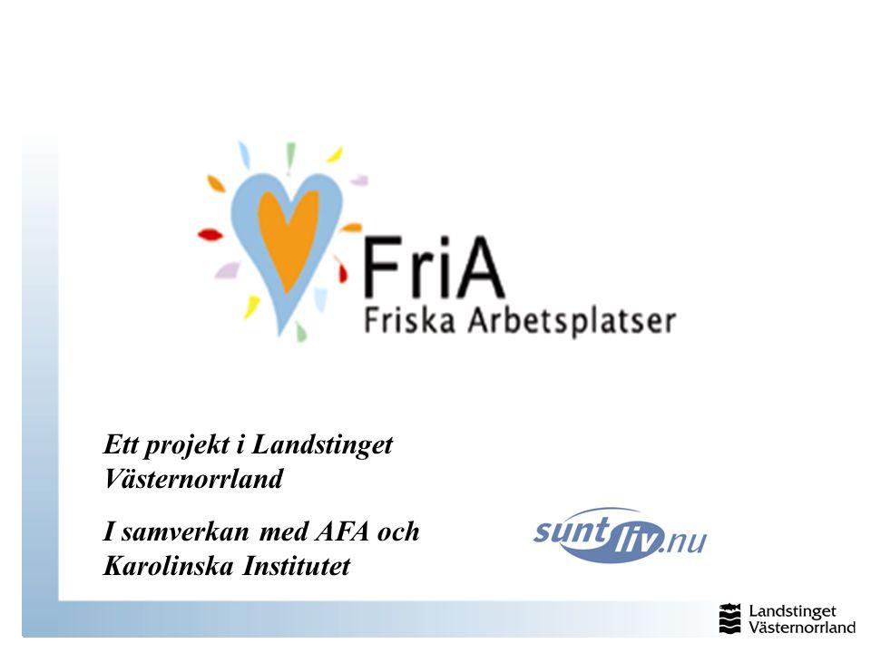 Ett projekt i Landstinget Västernorrland