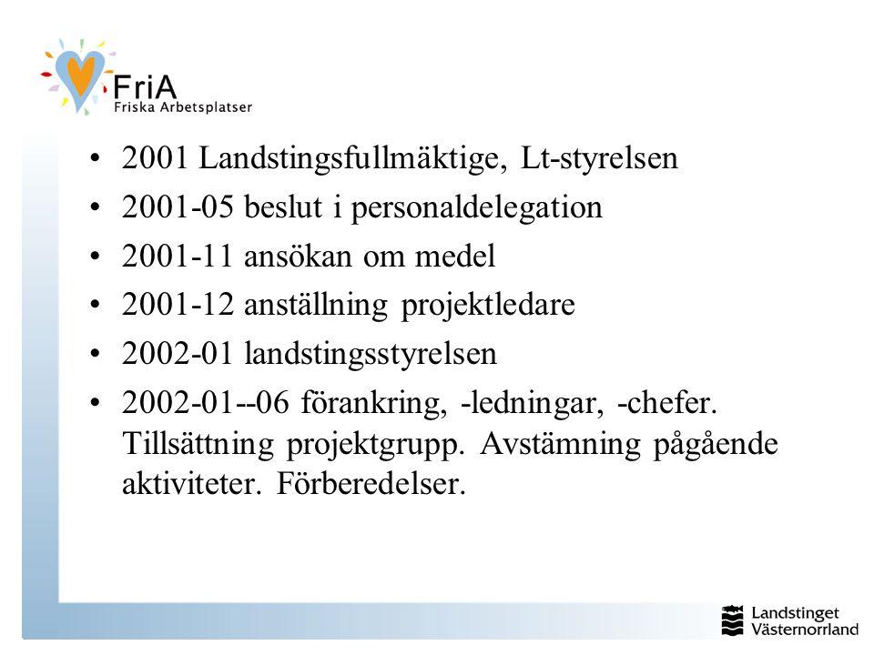 2001 Landstingsfullmäktige, Lt-styrelsen