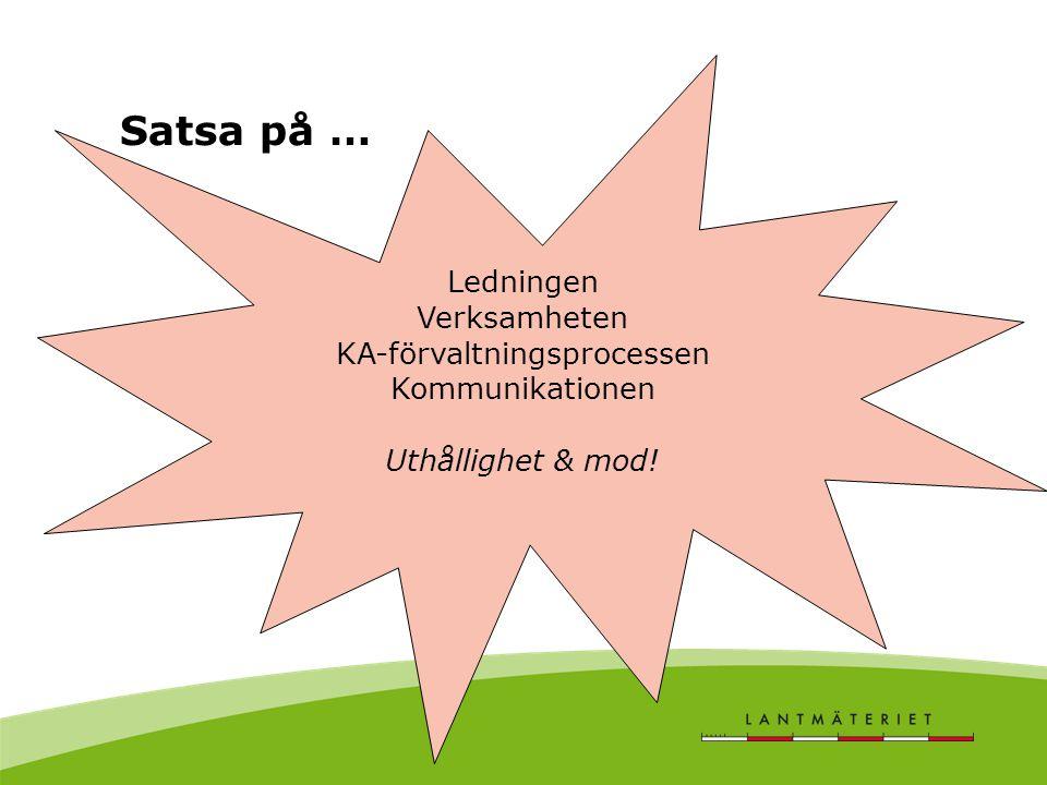 KA-förvaltningsprocessen