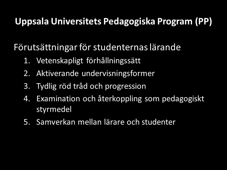 Uppsala Universitets Pedagogiska Program (PP)
