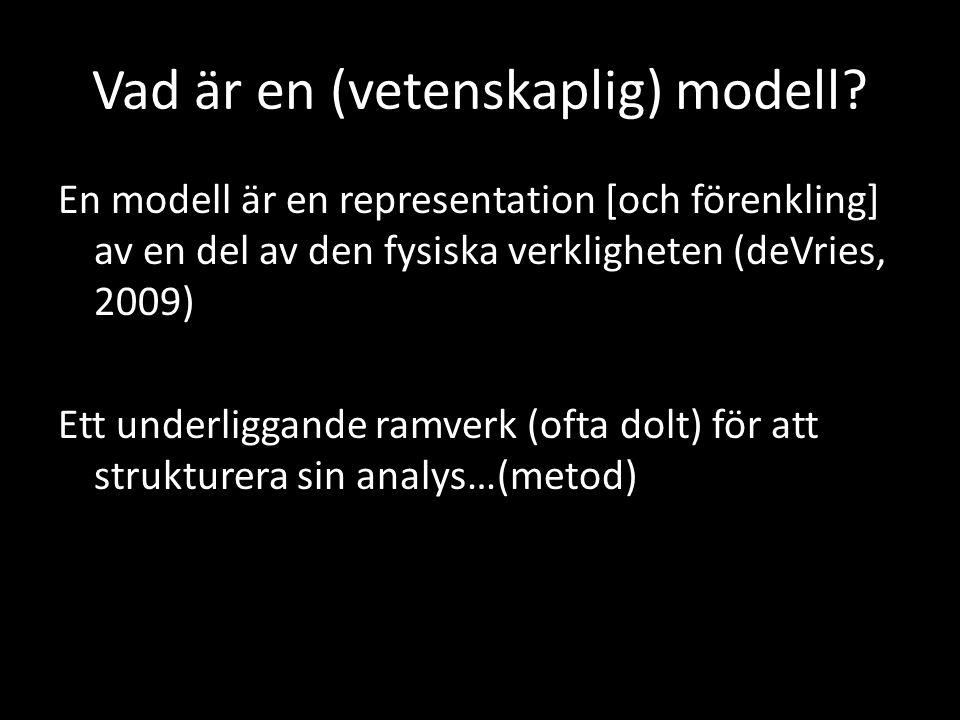 Vad är en (vetenskaplig) modell
