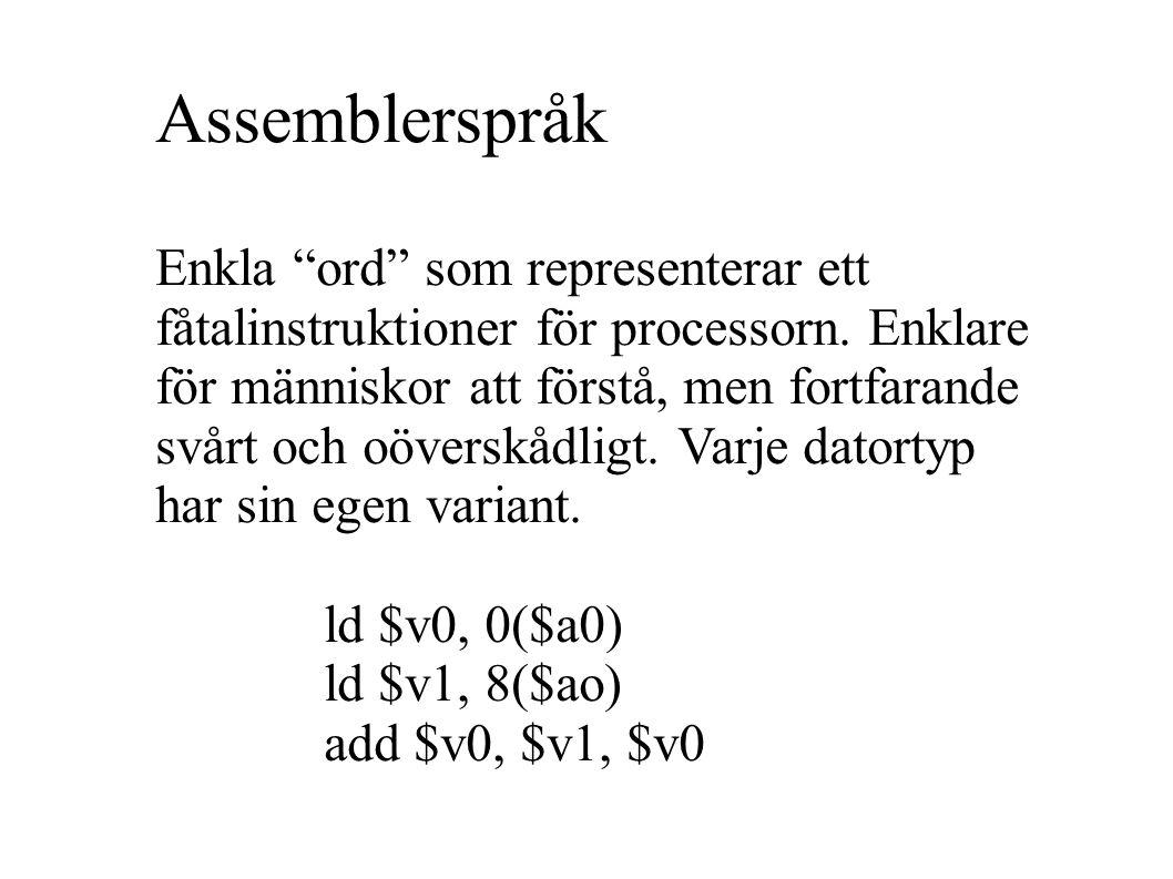 Assemblerspråk