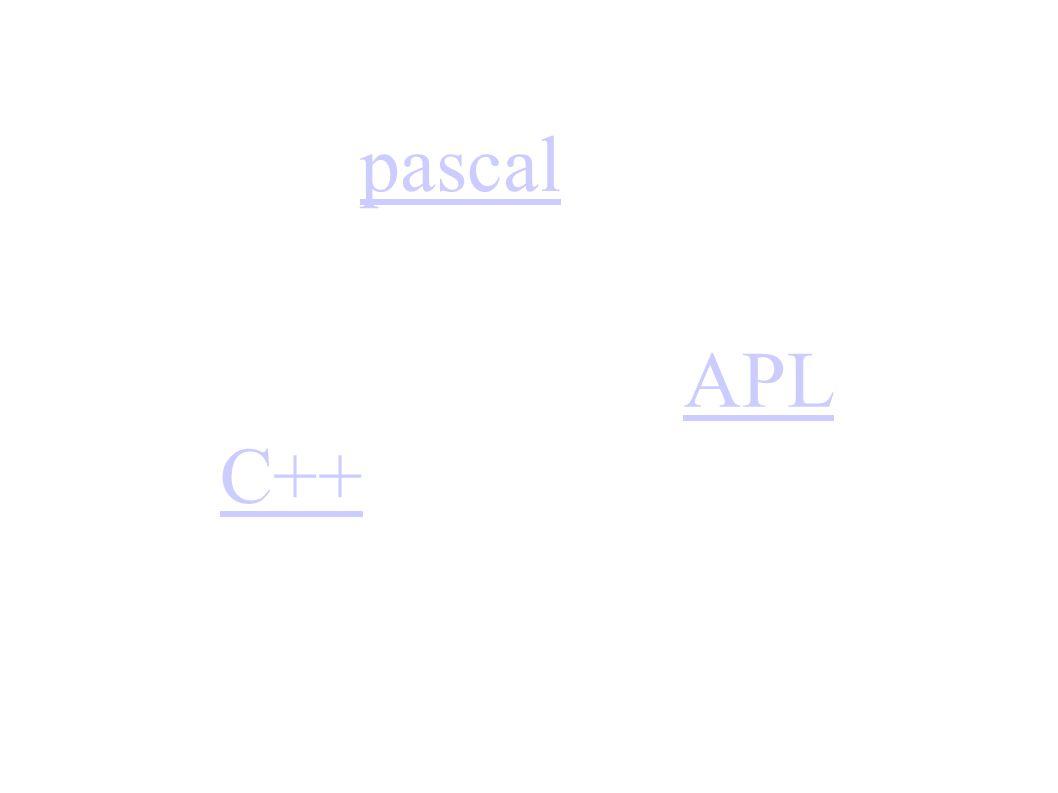 pascal APL C++