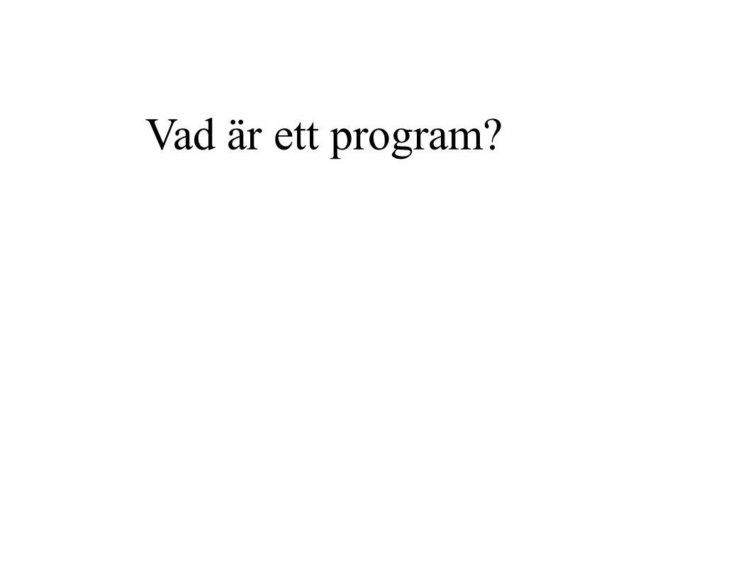 Vad är ett program