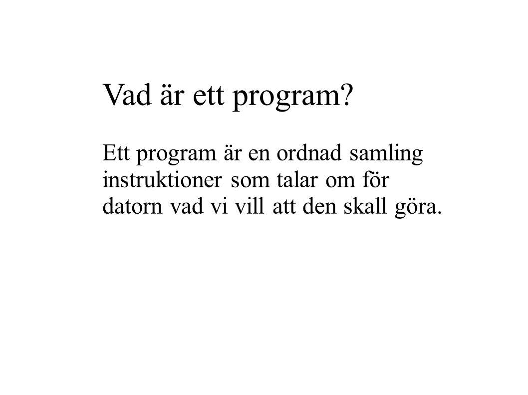 Vad är ett program.