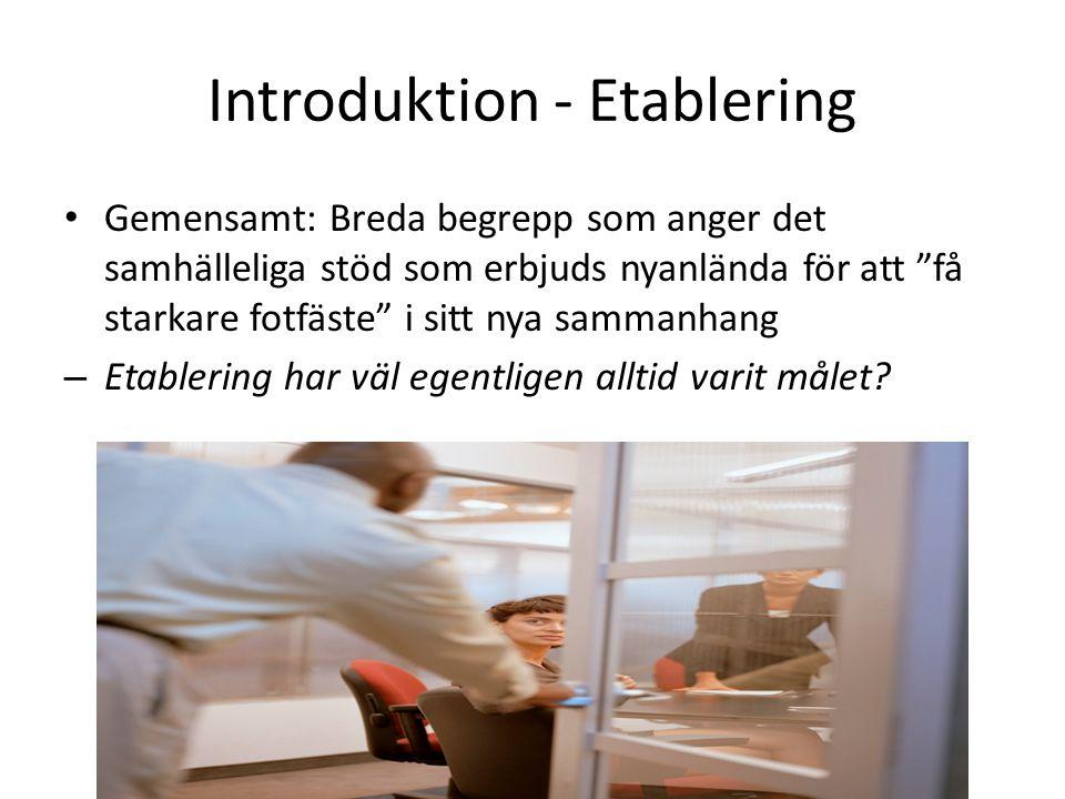 Introduktion - Etablering