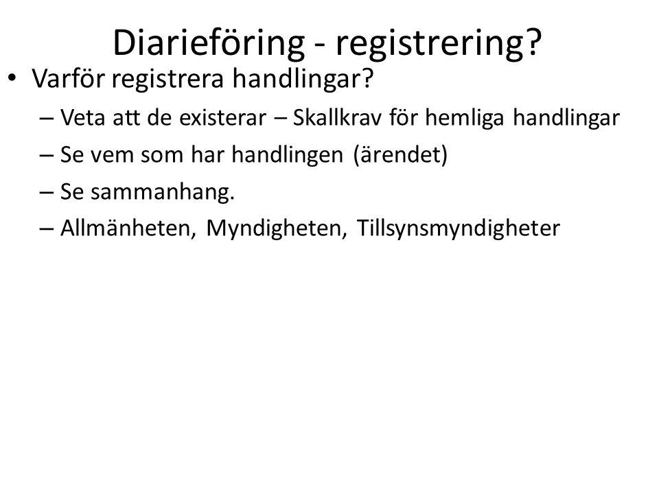 Diarieföring - registrering