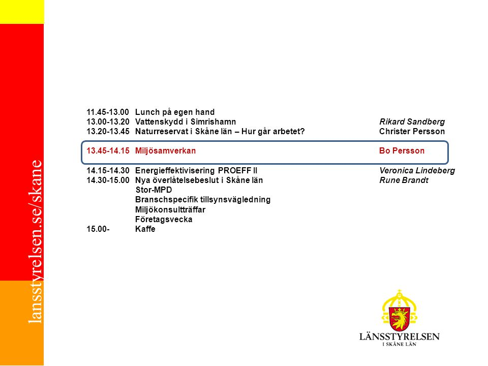 13.00-13.20 Vattenskydd i Simrishamn Rikard Sandberg
