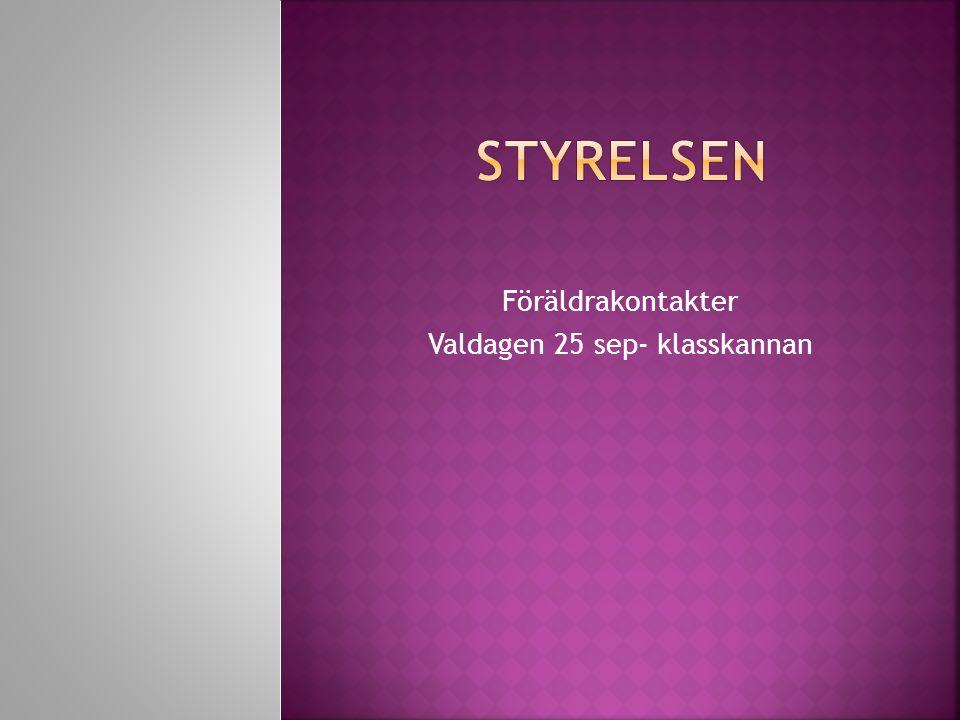 Föräldrakontakter Valdagen 25 sep- klasskannan