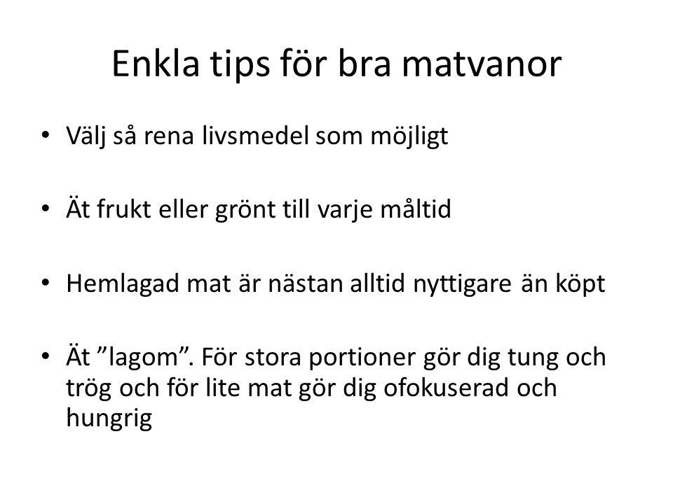 Enkla tips för bra matvanor