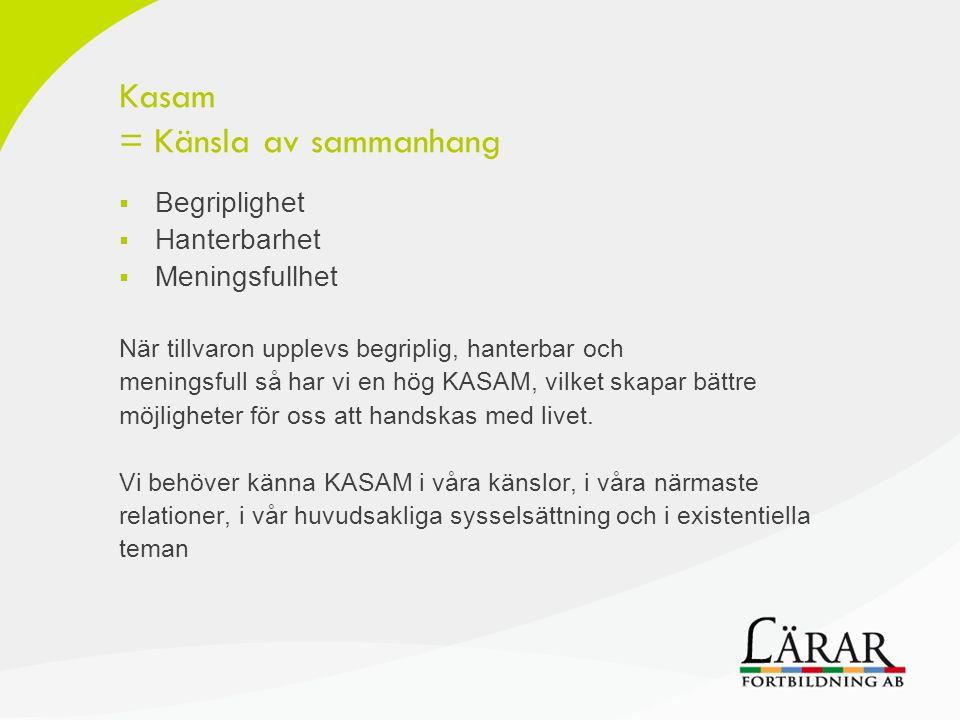 Kasam = Känsla av sammanhang