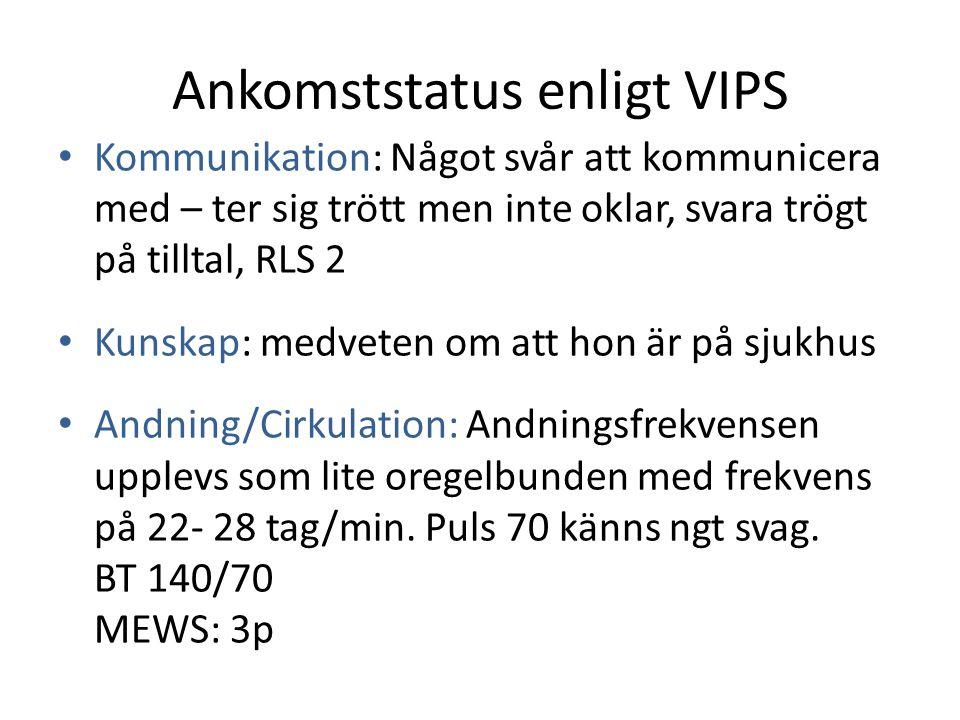 Ankomststatus enligt VIPS