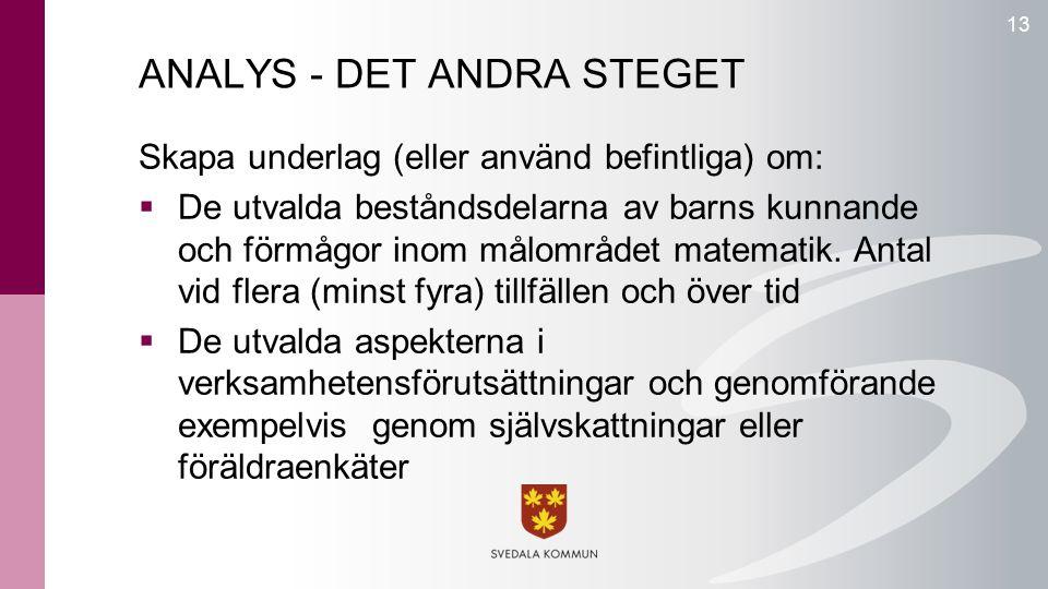 ANALYS - DET ANDRA STEGET