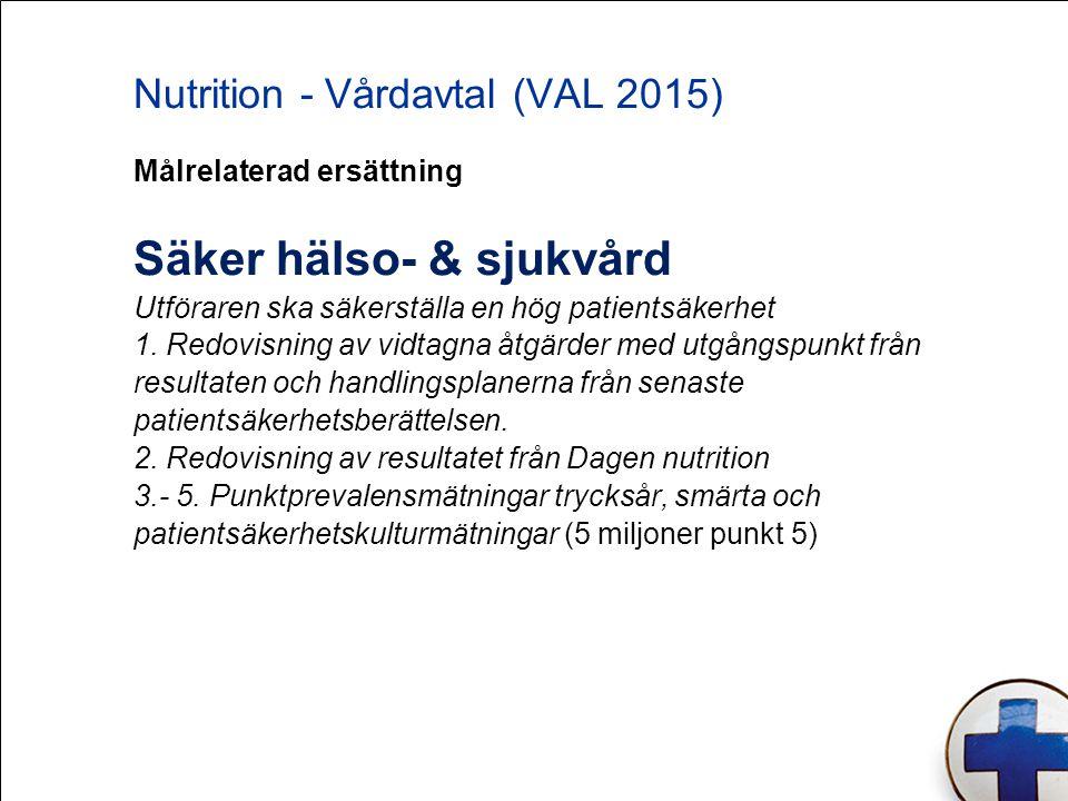 Nutrition - Vårdavtal (VAL 2015)