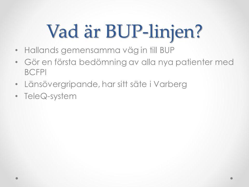 Vad är BUP-linjen Hallands gemensamma väg in till BUP