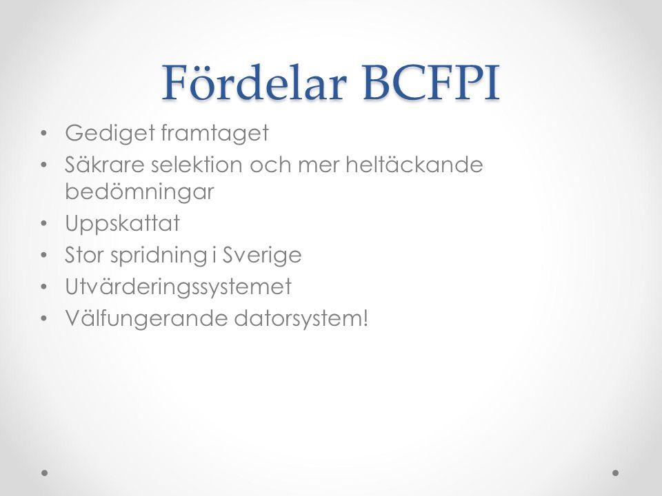 Fördelar BCFPI Gediget framtaget